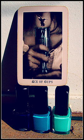 Ace of Cups from Silver Era Tarot